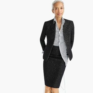 MAKE OFFER J.Crew Going Out Blazer In Tinsel Tweed